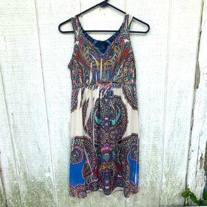Boho paisley beaded dress